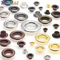 500 unids / lote Ojales de Metal Ojales 3 MM 4 MM 5 MM 6 MM para el arte de cuero DIY Scrapbooking zapatos moda accesorios prácticos
