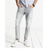 Bahar Yeni Kot Erkekler Çizik Fashiondenim Aşınmış Ayak Bileği Uzunlukta Pantolon Slim Fit Artı Boyutu Marka Giyim Toptan