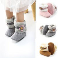 Toddler Baby Boy Girl Boots Winter Warm Slippers Boots Prewa...