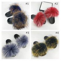 Shaggy slippers New Luxury Women' s Mink hair Slippers F...