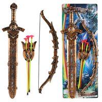 Frete Grátis Children's Swordsman Plástico Brinquedos Espada Estilo Europeu Guerreiro Espada Desempenho Celestial King Espada Braços Modelo Toy