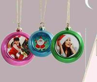 Adornos de navidad bola personalizada consumibles en blanco decoraciones suministros transferencia de corazón impresión DIY material árbol de Navidad sublimación
