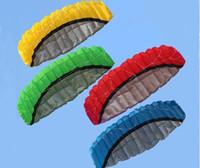 الرياضة في الهواء الطلق 2.5 متر الطاقة طائرة ورقية خط مزدوج حيلة parafoil طائرة ورقية مع مقبض 30 متر خط أعلى جودة الرياضة شاطئ طائرة ورقية سهلة الطيران