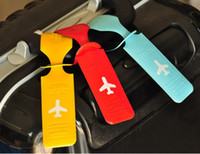 أسلوب جديد لطيف الأمتعة تسمية الأشرطة حقيبة حقيبة الملحقات التعرف الكلمات الأمتعة خلف الطائرة إكسسوارات PVC a1123456