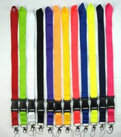2cm wide solid color lanyard blank no imprint neck strap for...
