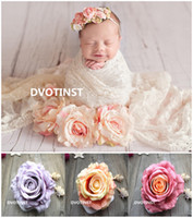 Dvotinst Baby Photography Props Simulation Roses Flower Deco...