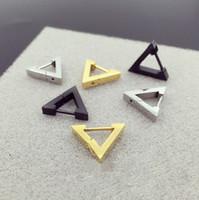 Moda New Hoop orecchino cuore triangolo acciaio inossidabile Ear Stud uomini donne Body Piercing gioielli Punk