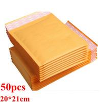 Blase Endlagendämpfung Wrap Endlagendämpfung Wrap Kraftpapier Umschläge Luftpost-Beutel Verpackung Blase Endlagendämpfung aufgefüllte Umschlag, Geschenkverpackungen, 200mm * 210cm