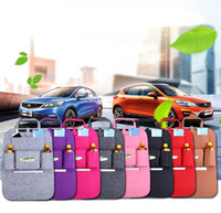9 colors Storage Bags car Back Seat Organizer Box Felt Cover...