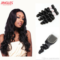 Raw Indian Human Hair Bundles with Closure 100% Unprocessed ...