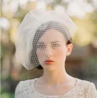 Kısa Basit Zarif Düğün Birdcage Gelin Veils İki Katmanlar Örgü Düğün Parti Stüdyo Şapkalar Accessaries Büyüleyici Veils
