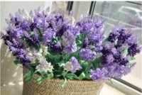 Simple Style 10pcs lot Artificial Fake Purple Lavender bloss...