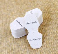 100 قطع الأبيض مستطيل ورقة OPP حقيبة الأسعار عرض مجوهرات بروش قلادة قلادة سوار خواتم هدايا بطاقات العرض