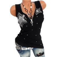 Damen Tanks Camis Mode Frauen Diamant Sexy Tiefe V-Ausschnitt Tanktop Strentch Sommer Lässig Niedlichen Einfachen Weiß Schwarz Damen Tops T-Stück Tuch