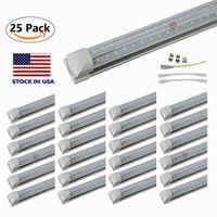 V 모양 8ft지도 된 관 표시 등 T8 통합 냉각기 문 디자인 상점 LED 전등 설비 2ft 3ft 4ft 5ft 6ft 3000K 4000K 5000K 6000K