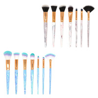 7pcs Marble Makeup Brush Set Foundation Powder Eye Shadow Co...