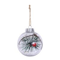 Diseño romántico decoraciones de Navidad bola transparente se puede abrir al por mayor de plástico presente Christmas Borrar chuchería de ornamento regalo