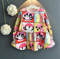 New Girl Clothes Autumn Girl Long Sleeve Penguin Pattern Clo...