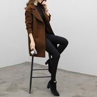 2018 가을 새로운 높은 패션 브랜드 여자 클래식 더블 브레스트 트렌치 코트 방수 우비 비즈니스 겉옷