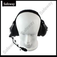 سماعة إلغاء الضوضاء الجديدة من heavey duty walkie talkie ل kenwood 2 pins ل baofeng UV-5R ثنائية الاتجاه