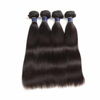 브라자 리안 버진 스트레이트 인간의 머리카락은 자연 색 10-26 인치 더블 위사를 표백하는 4pcs / lot 인도의 똑바로 머리 확장을 표백