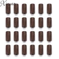 XINYAO 300 stück 12X6mm Natürliche Holzperlen Braun Spalte Holz Perlen Lose Distanzscheibe Holz Perlen Für Diy Armbänder Schmuck Zeug F7485