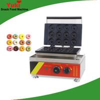 Yeni Ticari 12-Delik Elektrikli Çörek Makinesi Mini Çörek Makinesi Waffle Donut Fırın NP5 Donuts Maker Makinesi