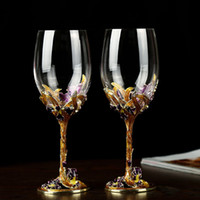 Gfhgsd high-grade Crystal Champagne Flutes Stand Metal with Esmel Creative Style Goblet Glass Wedding Gifts LK1015