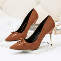 Free shipping female pointed toe shallow mouth stiletto heel...