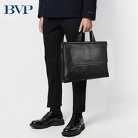 حقائب BVP جودة عالية الرجال حقيبة حقيبة جلد طبيعي الكمبيوتر المحمول رجل الأعمال حقيبة جلد البقر الذكور 50