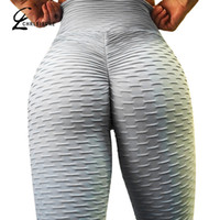 CRISIS Sexy Push Up Leggings de Entrenamiento Mujeres Cintura Alta Tight Leggins Mujer Arrugas Absorbentes Transpirables Leggings S18101502