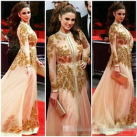Kaftan Abayas Dubai Style Long Sleeve Celebrity Red Carpet D...