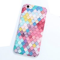 Custodie per telefono colorate in scala 3D per iPhone 6 6s 7 Custodia per ragazze sirene coreane per Apple iPhone 7 6 6s Plus