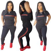 3XL Red and Green Stripe Women Sets 2 pcs Sweatsuit Cotton S...