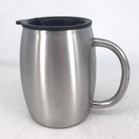 14 Unzen Tee Kaffeetassen Edelstahl-Bierkrug 14 Unzen Kaffeetasse mit Deckel Double Wall 420ml für kalte Getränke