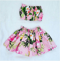 فتاة الصيف زهرة ملابس السباحة قطعتين طفلة الوردي البوليستر ملابس الاطفال ملابس الصيف ملابس الطفل CNU 007