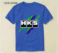 Summer Basic T Shirt Brand Car Auto HKS print t- shirt Top qu...