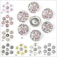 31 Style Noosa Snap gioielli stile rurale bottoni in vetro fai da te Snap Fit 18mm Snap bracciali Bangles