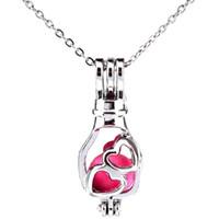 Gümüş Aşk Sürüklenme Şişe Yüzen Yağ Difüzör Madalyon Kadınlar Aromaterapi Boncuk İnci Istiridye Kafes Kolye Kolye-Butik hediye