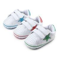 أحذية أطفال حديثي الولادة لطيف الجديدة الأولى حمالات بنات بنين الأزياء ستار Prewalkers ألبسة للأطفال كلاسيكي