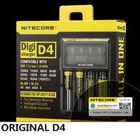 Nitecore D4 D2 I4 I2 Digicharger LCD Circuito Intelligente Assicurazione Globale li-ion 18650 14500 16340 26650 Caricabatteria 1 pz / lotto