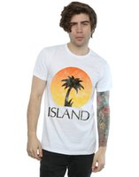 Island Records Men' s Distressed Logo T- Shirt
