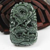 Pendente di pace del drago della Cina e dello xinjiang della Cina qing jade con spedizione gratuita