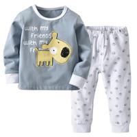 service nouveau foyer pour enfants petits coton de ponçage endormi enfants decoree gris imprimé en deux parties nightwear E16