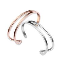 Nieuwkomers 925 Sterling Zilveren Mode Paar Custom Bangle Armbanden Ondersteuning Lettering Fijne Sieraden Maken voor Liefhebbers Gift Gratis Verzending