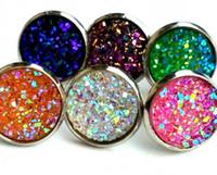 Wholesale ювелирные изделия насыпные лоты мода из нержавеющей стали многоцветный горный хрусталь каменные серьги для женщин мужчины мода бесплатная доставка