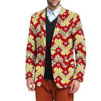 2018 traje de hombre africano chaquetas ropa africano festivo Blazers para  el partido Personalizar hombre Blazers 80d4c84576d