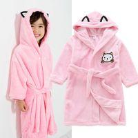 08b360691 Crianças Roupões de Banho para Meninos Meninas Robe De Banho Sólida Pijama  Do Bebê Toddle Com