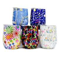 5 Printed Patterns 9oz Egg Cups 304 Stainless Steel Thermos ...