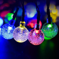 Albero di Natale LED Light Solar Powered Impermeabile String Light Indoor / Outdoor Decorazione del partito Bubble Shaped Dream Fairy Light 6.5M 30LED